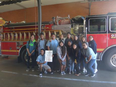 Hosa Visit to Firehouse-Droping off Baked Goods