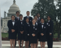 HOSA OFFICERS IN WASHINGTON DC